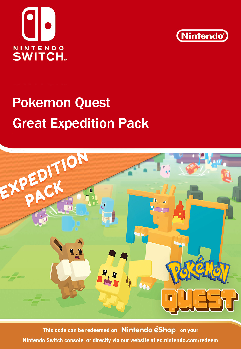 Pokemon Quest Great Expedition Pack DLC Nintendo Switch