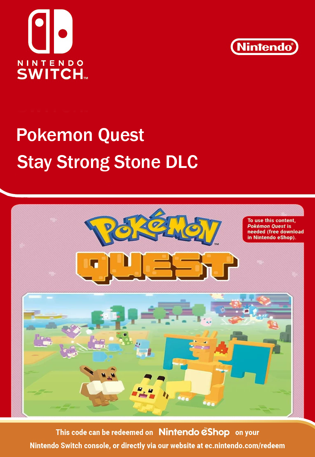 Pokemon Quest Stay Strong Stone DLC Nintendo Switch