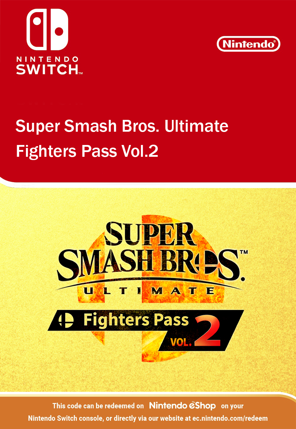 Super Smash Bros Ultimate - Fighters Pass Vol.2 Nintendo Switch